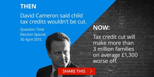 Cameron pledge broken